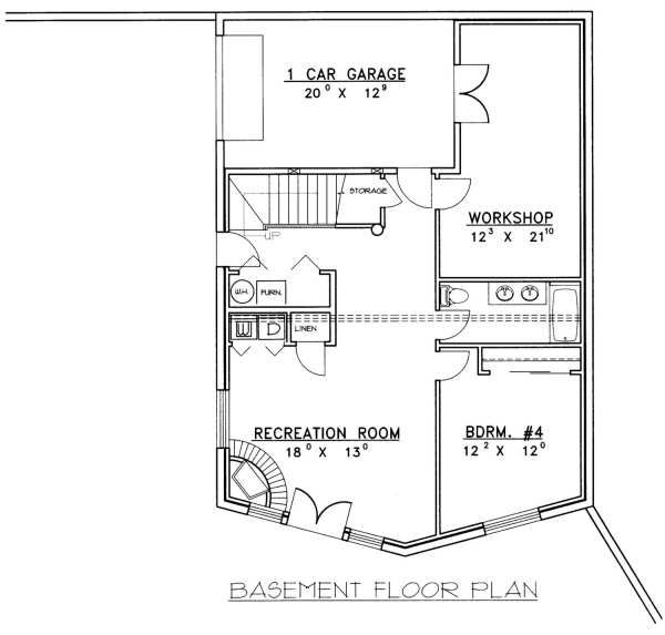 Log Floor Plan - Lower Floor Plan Plan #117-415