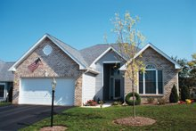 Home Plan Design - European Exterior - Front Elevation Plan #20-429