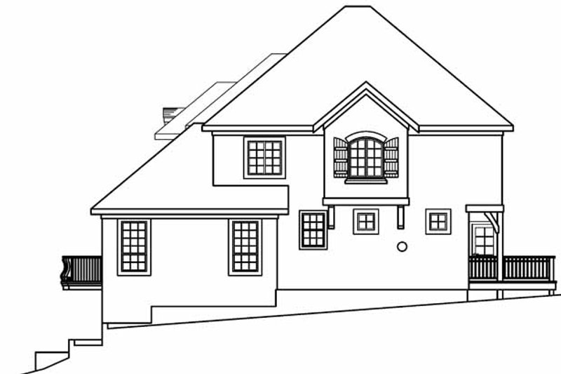 European Exterior - Other Elevation Plan #124-542 - Houseplans.com