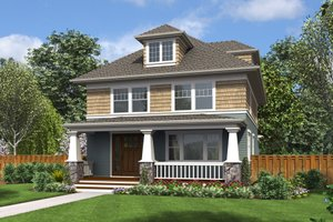 Craftsman Exterior - Front Elevation Plan #48-710