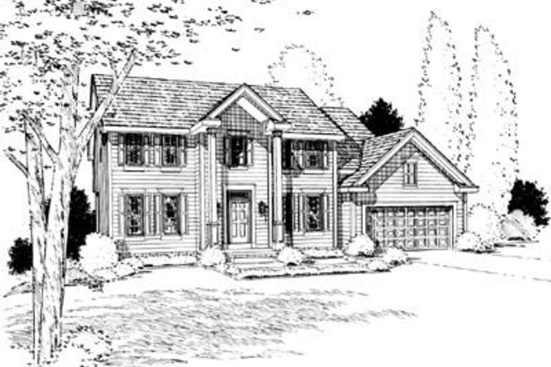 Southern Exterior - Front Elevation Plan #20-793 - Houseplans.com