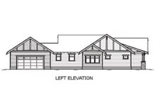 Bungalow style, Craftsman design home, left elevation