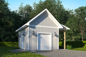 Country Exterior - Front Elevation Plan #23-2754