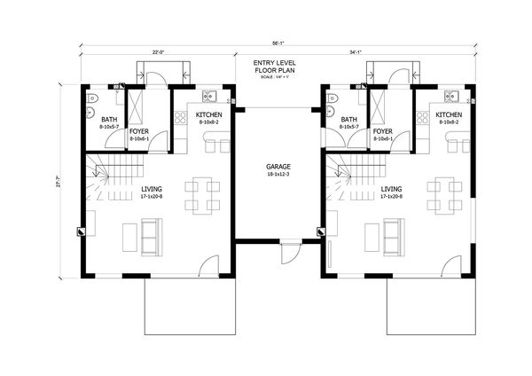 Contemporary Floor Plan - Main Floor Plan Plan #538-15