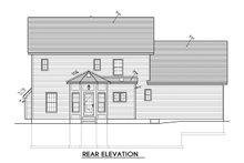 Colonial Exterior - Rear Elevation Plan #1010-211