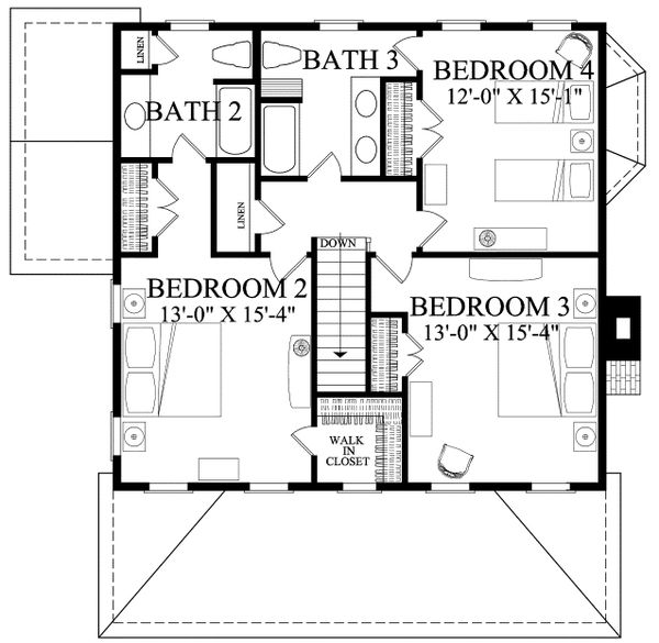 Dream House Plan - Country Floor Plan - Upper Floor Plan #137-378
