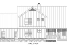 House Plan Design - Country Exterior - Rear Elevation Plan #932-258
