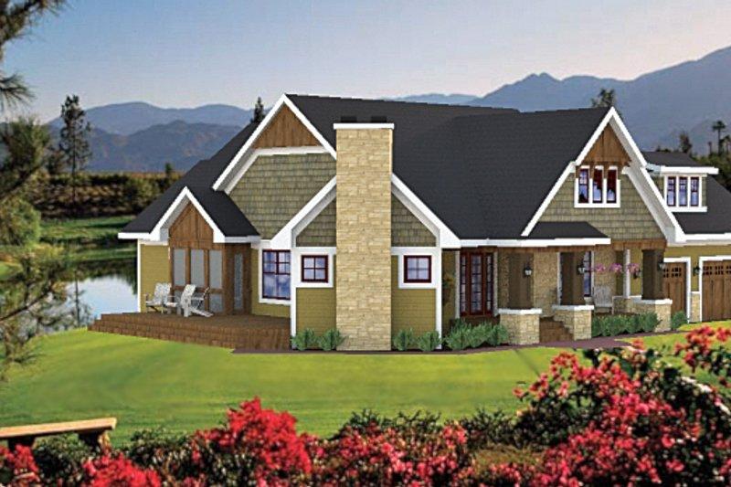Craftsman style, Bungalow design, elevation
