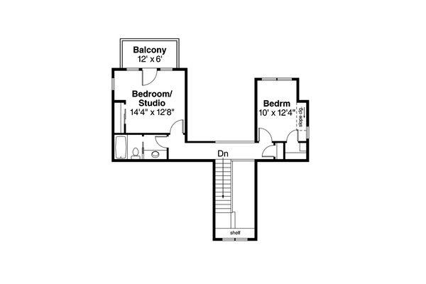 Cottage Floor Plan - Upper Floor Plan Plan #124-1036