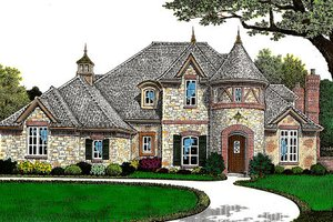 European Exterior - Front Elevation Plan #310-644