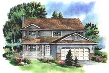 House Blueprint - Traditional Exterior - Front Elevation Plan #18-232