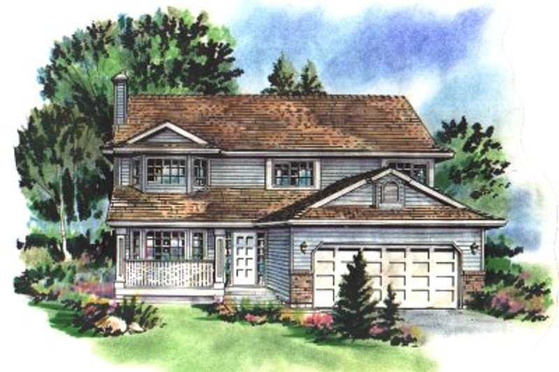Traditional Exterior - Front Elevation Plan #18-232 - Houseplans.com