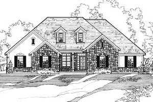 House Plan Design - Traditional Exterior - Front Elevation Plan #31-118