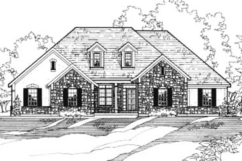 Traditional Style House Plan - 3 Beds 2 Baths 1990 Sq/Ft Plan #31-118