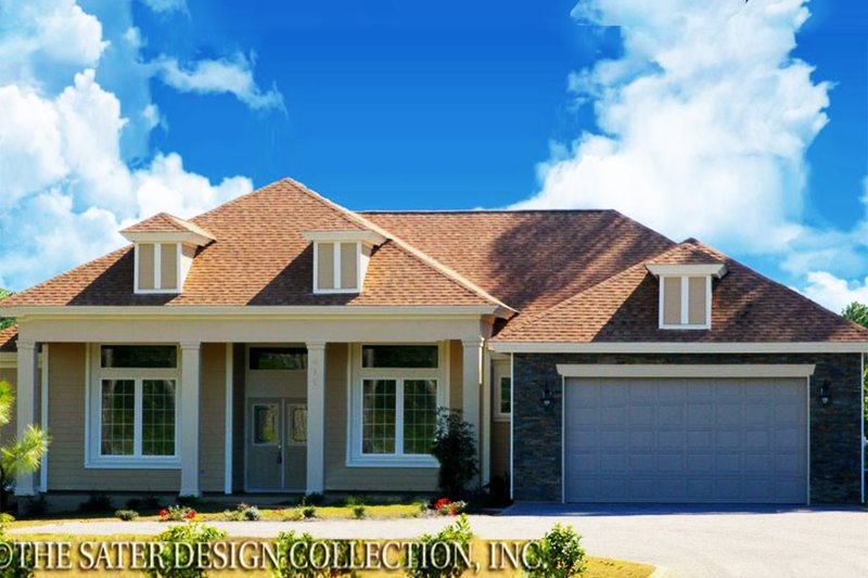 Country Exterior - Front Elevation Plan #930-376