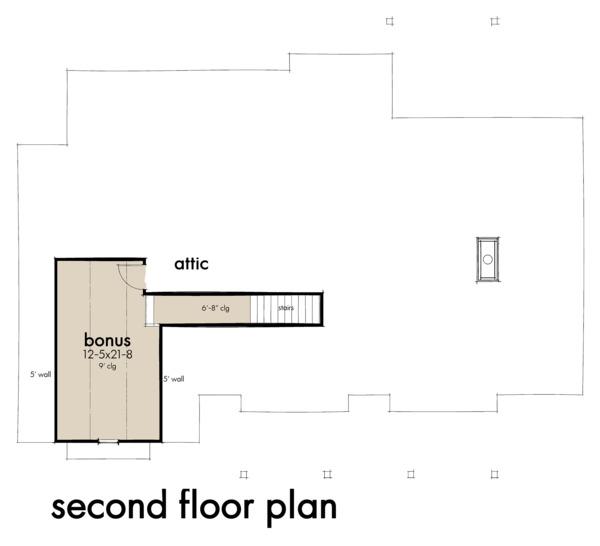 Farmhouse Floor Plan - Upper Floor Plan #120-263
