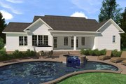 Farmhouse Style House Plan - 3 Beds 2.5 Baths 2883 Sq/Ft Plan #1071-4 Exterior - Rear Elevation