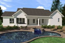 Farmhouse Exterior - Rear Elevation Plan #1071-4