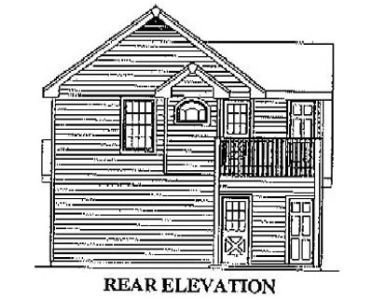 Traditional Exterior - Rear Elevation Plan #57-165 - Houseplans.com