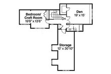 Traditional Floor Plan - Upper Floor Plan Plan #124-849