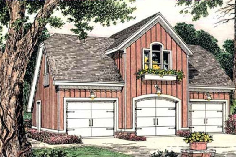 Country Exterior - Front Elevation Plan #406-301