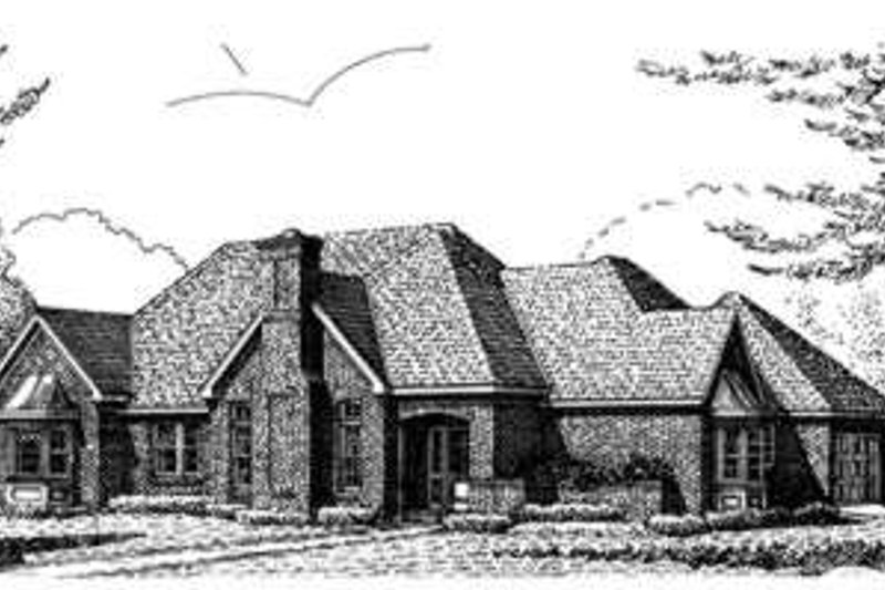 European Exterior - Front Elevation Plan #410-388 - Houseplans.com