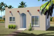 Adobe / Southwestern Style House Plan - 1 Beds 1 Baths 437 Sq/Ft Plan #1-157 Exterior - Front Elevation