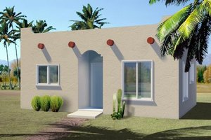 Adobe / Southwestern Exterior - Front Elevation Plan #1-157