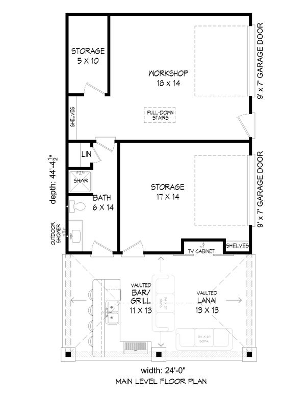 Country Floor Plan - Main Floor Plan Plan #932-312