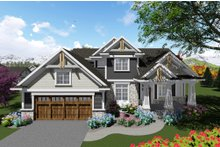 Dream House Plan - Craftsman Exterior - Front Elevation Plan #70-1280