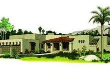 House Blueprint - Adobe / Southwestern Exterior - Front Elevation Plan #72-167