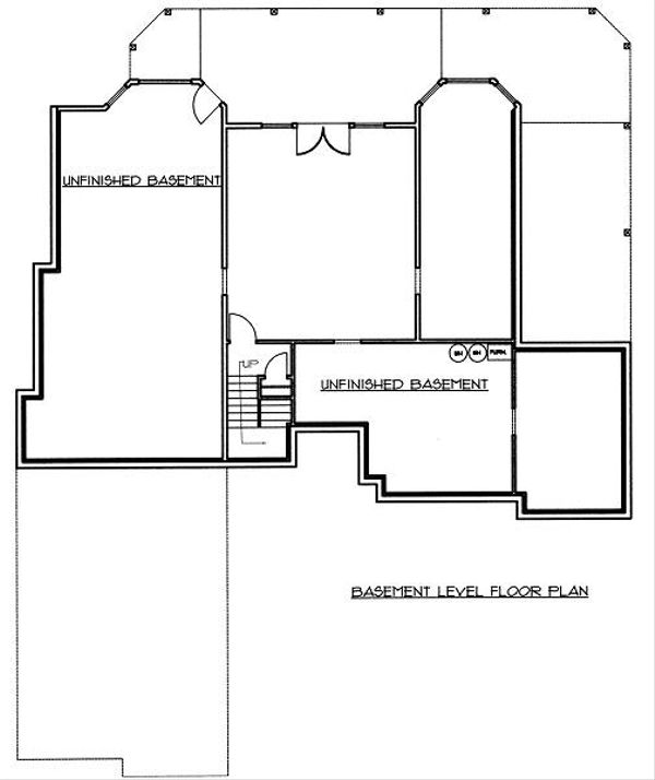 Traditional Floor Plan - Lower Floor Plan Plan #117-545