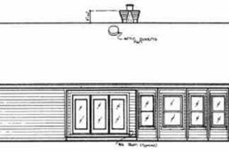 Traditional Exterior - Rear Elevation Plan #45-112 - Houseplans.com