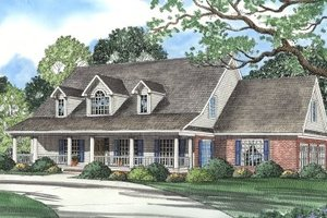 Country Exterior - Front Elevation Plan #17-295