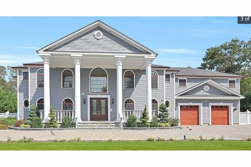 Home Plan - Colonial Exterior - Front Elevation Plan #3-345