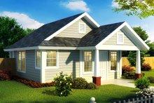 Cottage Exterior - Front Elevation Plan #513-2181