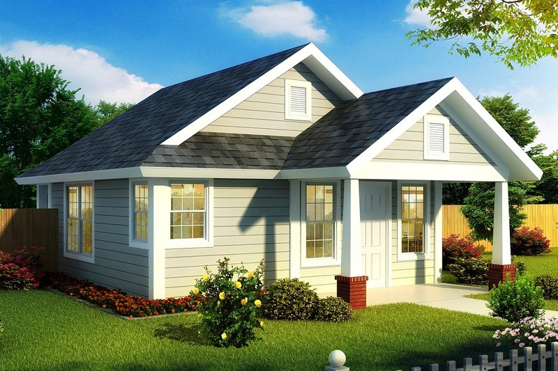 Cottage Exterior - Front Elevation Plan #513-2181
