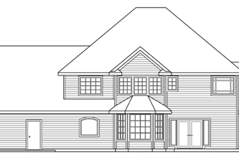 European Exterior - Rear Elevation Plan #124-271 - Houseplans.com