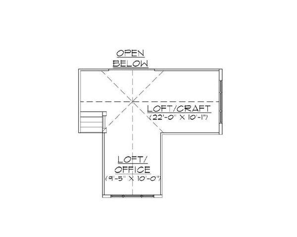 House Plan Design - European Floor Plan - Upper Floor Plan #5-370