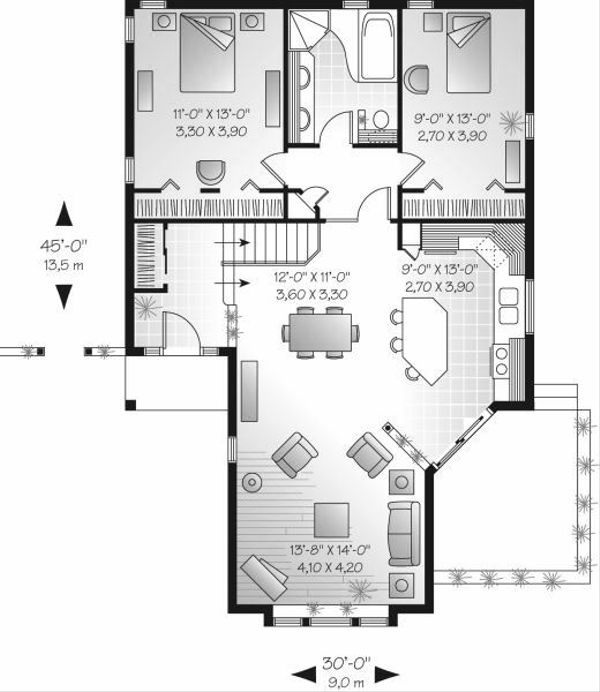 Cottage Floor Plan - Main Floor Plan Plan #23-683