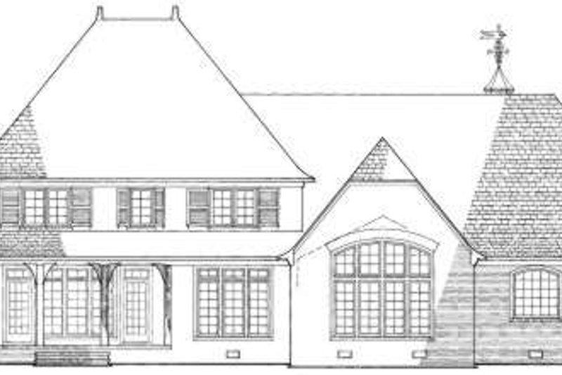 European Exterior - Rear Elevation Plan #137-117 - Houseplans.com