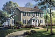 Colonial Style House Plan - 4 Beds 2.5 Baths 2032 Sq/Ft Plan #57-203 Exterior - Front Elevation