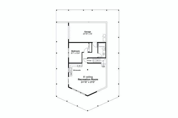 Craftsman Floor Plan - Lower Floor Plan #124-1242