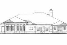 House Plan Design - Modern Exterior - Rear Elevation Plan #72-324