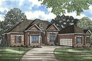 Traditional Style House Plan - 4 Beds 3.5 Baths 3568 Sq/Ft Plan #17-2062 Exterior - Front Elevation
