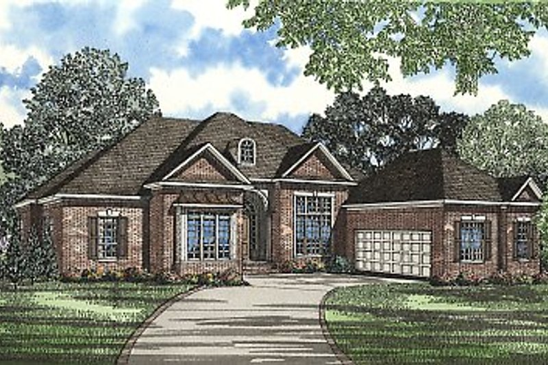 Architectural House Design - Traditional Exterior - Front Elevation Plan #17-2062