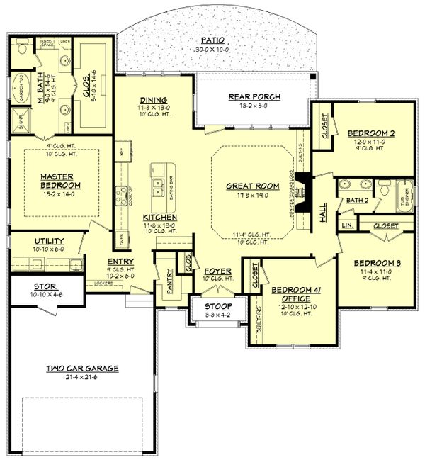 European Floor Plan - Main Floor Plan Plan #430-138