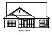 European Style House Plan - 3 Beds 2 Baths 1943 Sq/Ft Plan #17-110 Exterior - Rear Elevation