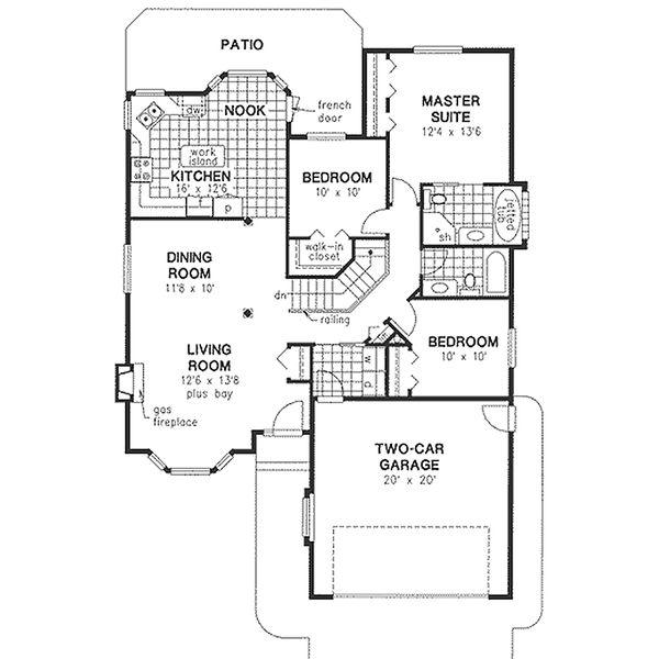 House Blueprint - Traditional Floor Plan - Main Floor Plan #18-1014