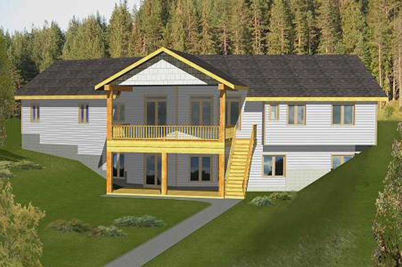 Dream House Plan - Modern Exterior - Front Elevation Plan #117-582